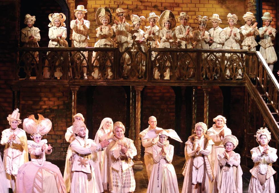 "A scene from the play ""Measure for Measure""/""Hakbang sa Hakbang."""