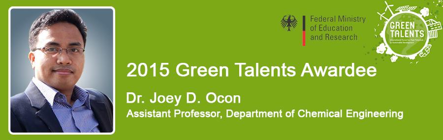2015 green talents awardee