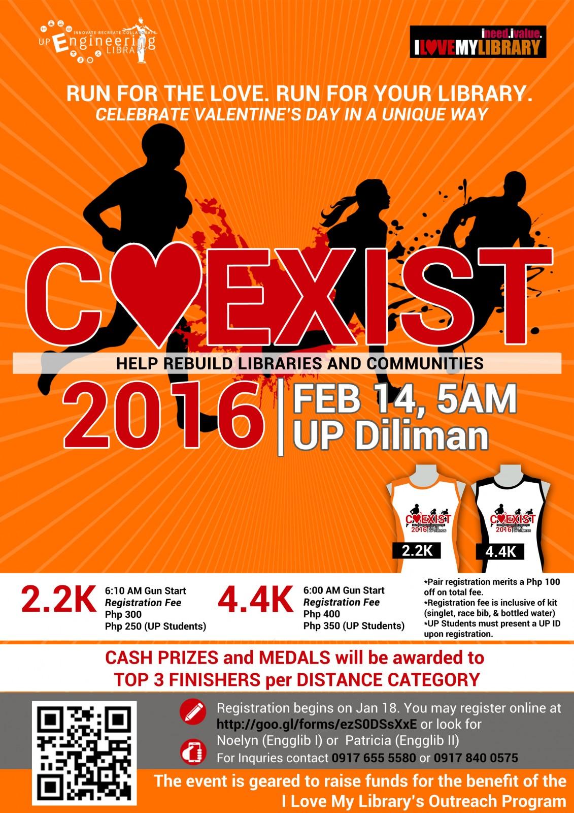 2016 Coexist Fun Run 2016 poster V1