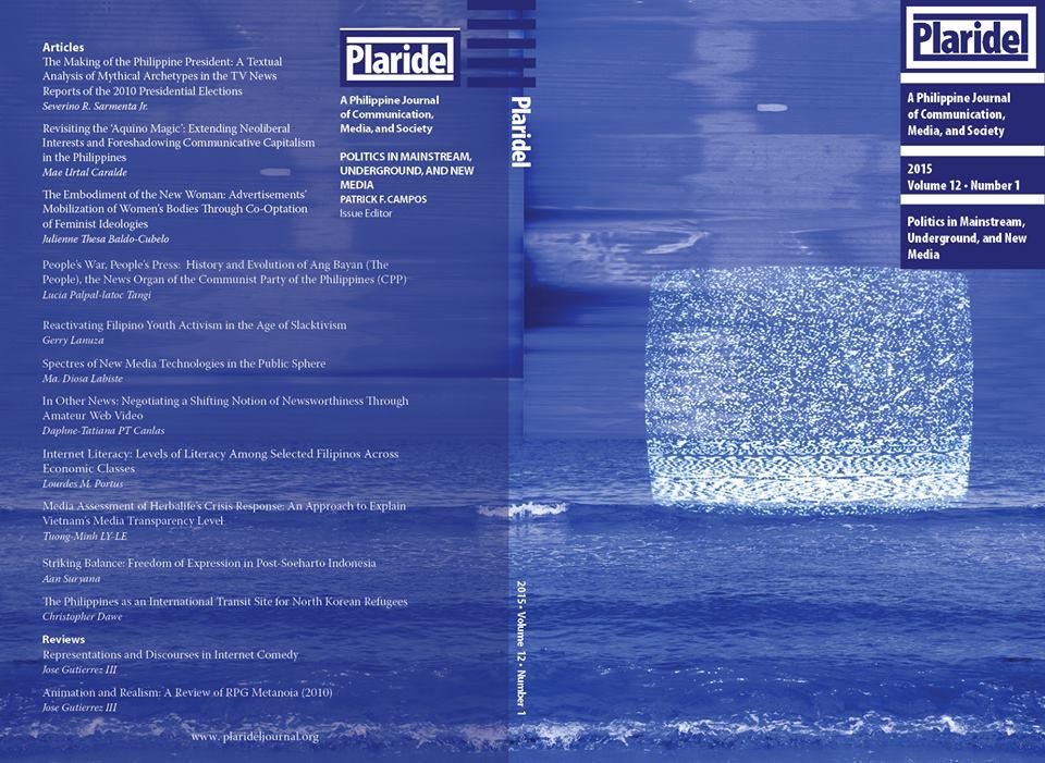 Plaridel Journal Issue 12 Volumes 1