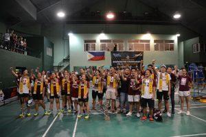 UP Badminton Teams singing UP Naming Mahal